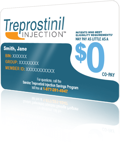 Sample Treprostinil Injection co-pay savings card